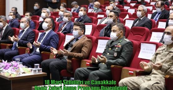 18 Mart Şehitleri ve Çanakkale Deniz Zaferi Anma Programı Düzenlendi