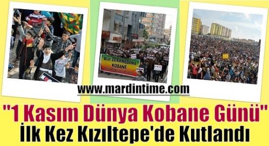 ''1 Kasım Dünya Kobane Günü'' İlk Kez Kızıltepe'de Kutlandı