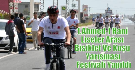 1.Ahmed-İ Hani Liseler Arası Bisiklet Ve Koşu Yarışması Festivali Yapıldı