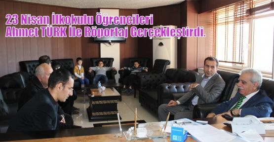 23 Nisan İlkokulu Öğrencileri Ahmet TÜRK İle Röportaj Gerçekleştirdi.