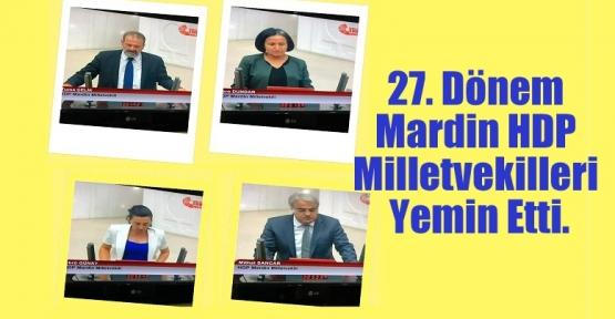Mardin HDP Milletvekilleri Yemin Etti.