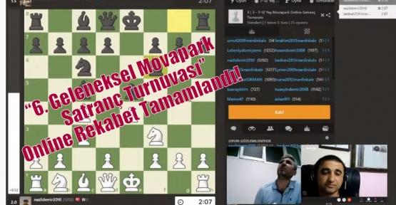 """""""6. Geleneksel Movapark Satranç Turnuvası"""" Online Rekabet Tamamlandı!"""