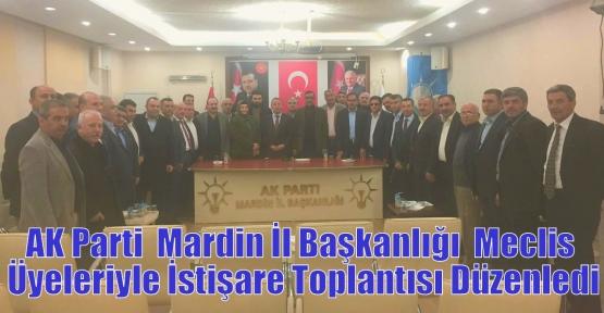 AK Parti  İl Başkanlığı  Meclis Üyeleriyle İstişare Toplantısı Düzenledi