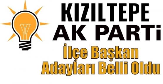 AK Parti Kızıltepe İlçe Başkan Adayları Belli Oldu