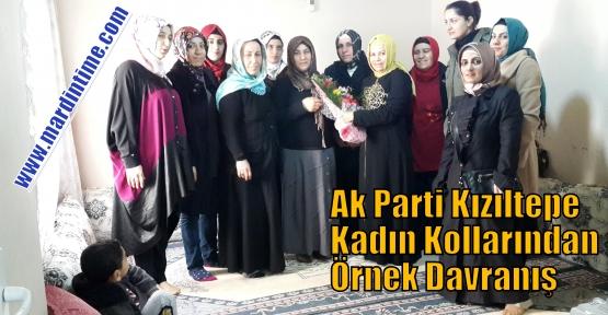 Ak Parti Kızıltepe Kadın Kollarından Örnek Davranış