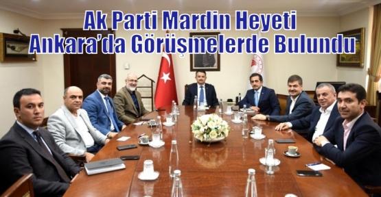 Ak Parti Mardin Heyeti Ankara'da Görüşmelerde Bulundu