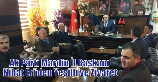 Ak Parti Mardin İl Başkanı Nihat Eri'den Yeşilli'ye Ziyaret