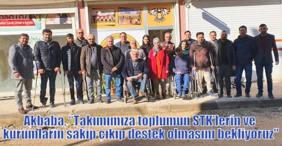 """Akbaba, """"Takımımıza toplumun STK'lerin ve kurumların sakip çıkıp destek olmasını bekliyoruz"""""""