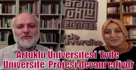 Artuklu Üniversitesi 'Evde Üniversite' Projesi devam ediyor