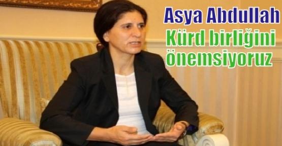 Asya Abdullah: Kürd birliğini önemsiyoruz