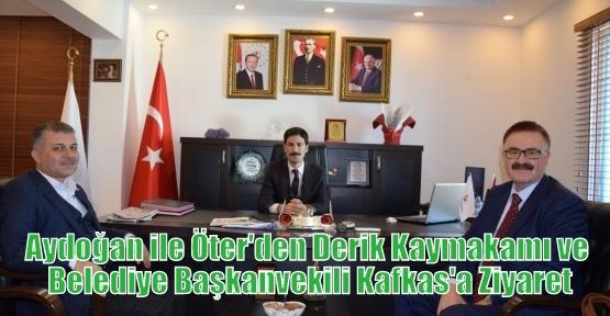 Aydoğan ile Öter'den Derik Kaymakamı ve Belediye Başkanvekili Kafkas'a  Ziyaret