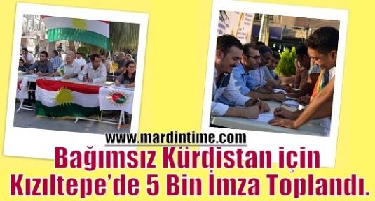 Bağımsız Kürdistan için Kızıltepe'de 5 Bin İmza Toplandı.