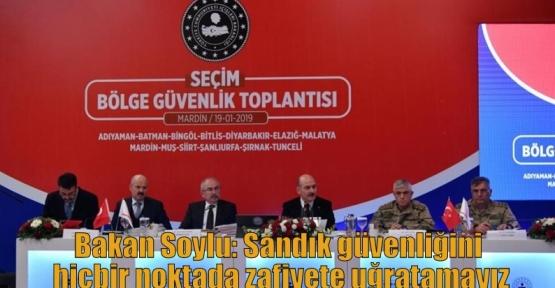 Bakan Soylu: Sandık güvenliğini hiçbir noktada zafiyete uğratamayız