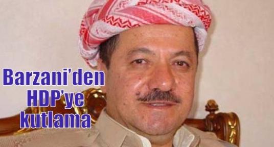 Barzani'den HDP'ye kutlama
