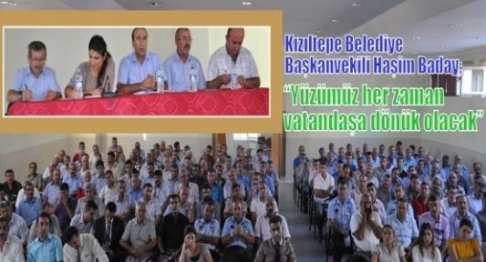 Başkan Baday, belediye başkan yardımcıları ile tüm personellerle toplantı yaptı