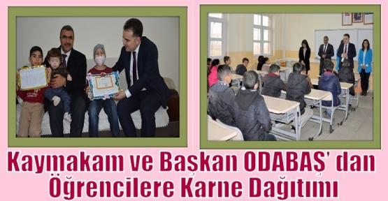 Başkan ODABAŞ' dan Öğrencilere Karne Dağıtımı