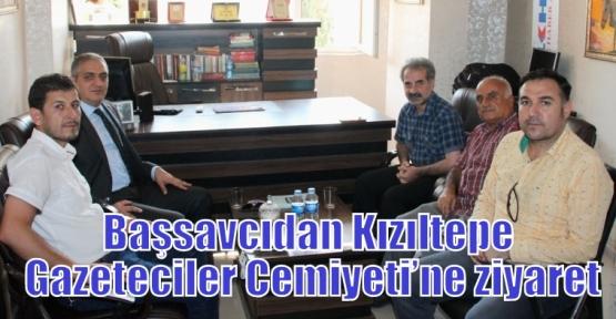 Başsavcıdan Kızıltepe Gazeteciler Cemiyeti'ne ziyaret