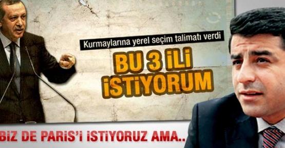 BDP'li Demirtaş'tan Başbakan Erdoğan'a 3 il yanıtı