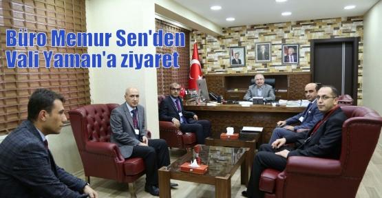 Büro Memur Sen'den Vali Yaman'a ziyaret