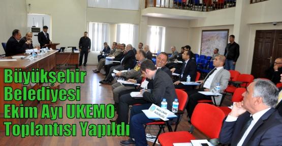 Büyükşehir Belediyesi Ekim Ayı UKEMO Toplantısı Yapıldı