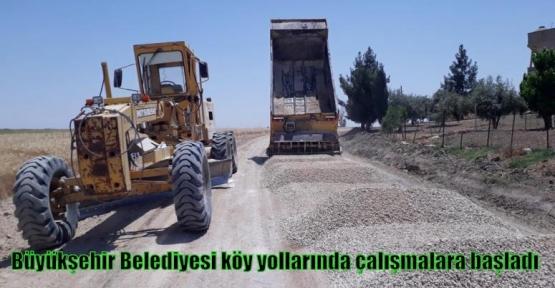 Büyükşehir Belediyesi köy yollarında çalışmalara başladı