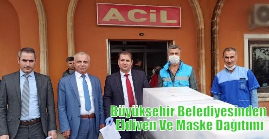 Büyükşehir Belediyesinden Eldiven Ve Maske Dağıtımı