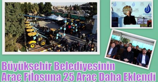 Büyükşehir Belediyesinin Araç Filosuna 25 Araç Daha Eklendi