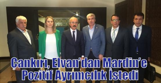 Çankırı, Elvan'dan Mardin'e Pozitif Ayrımcılık İstedi