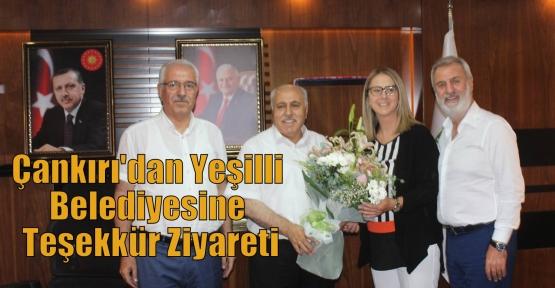 Çankırı'dan Yeşilli Belediyesine Teşekkür Ziyareti