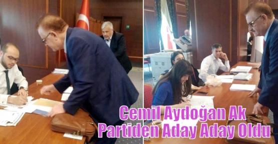 Cemil Aydoğan Ak Partiden Aday Aday Oldu