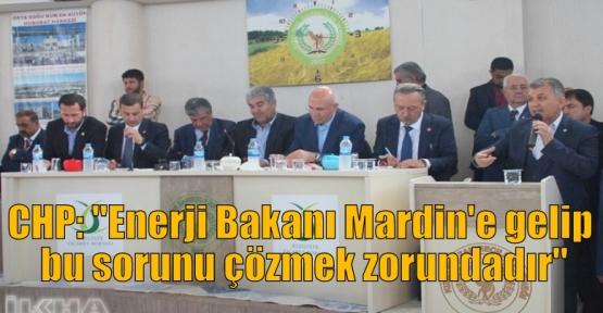 """CHP: """"Enerji Bakanı Mardin'e gelip bu sorunu çözmek zorundadır"""""""