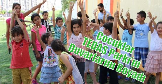 Çocuklar TEDAŞ Parkı'ın Duvarlarını Boyadı
