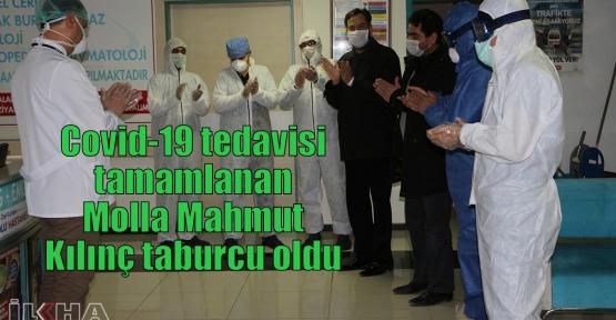 Covid-19 tedavisi tamamlanan Molla Mahmut Kılınç taburcu oldu