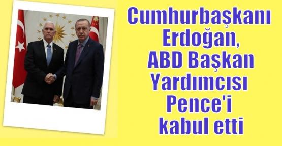 Cumhurbaşkanı Erdoğan, ABD Başkan Yardımcısı Pence'i kabul etti