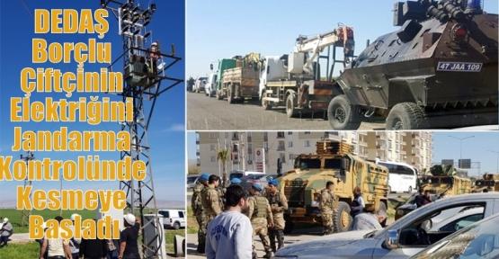 DEDAŞ Borçlu Çiftçinin Elektriğini Jandarma Kontrolünde Kesmeye Başladı