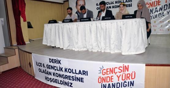 Derik Ak Parti Gençlik Kolları olağan kongresi  yapıldı