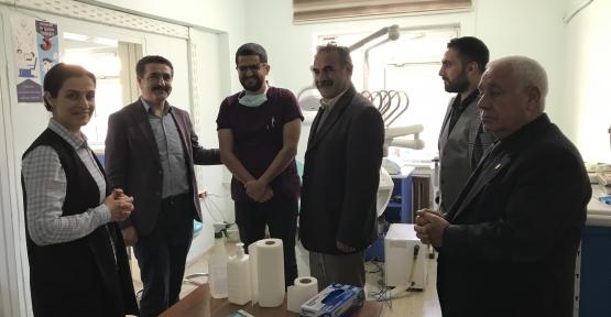 Derik Ak Parti İlçe Başkanı Süleyman Karahan Hastaneyi ziyaret etti