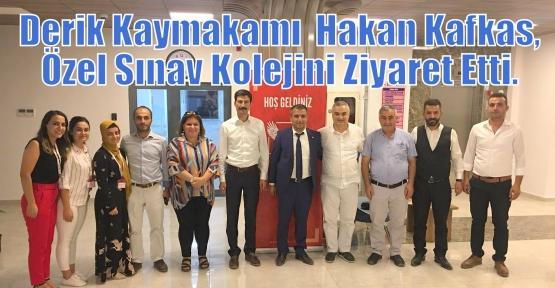 Derik Kaymakamı  Hakan Kafkas, Özel Sınav Kolejini Ziyaret Etti.