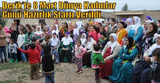 Derik'te 8 Mart Dünya Kadınlar Günü Hazırlık Startı Verildi.