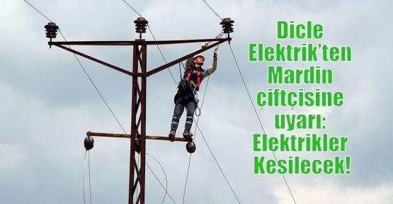 Dicle Elektrik'ten Mardin çiftçisine uyarı: Elektrikler Kesilecek!