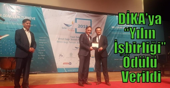 """DİKA'ya 'Yılın İşbirliği"""" Ödülü Verildi"""