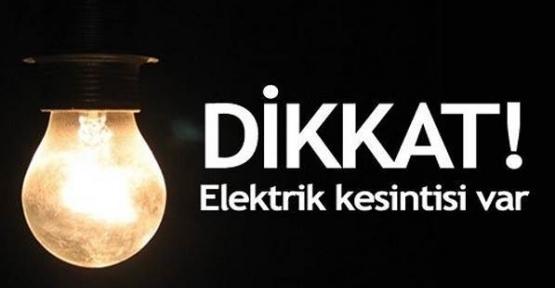 Dikkat Kızızltepe'de Elektrik Kesintisi Var