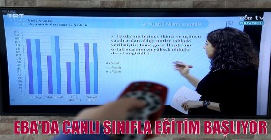 EBA'DA CANLI SINIFLA EĞİTİM BAŞLIYOR