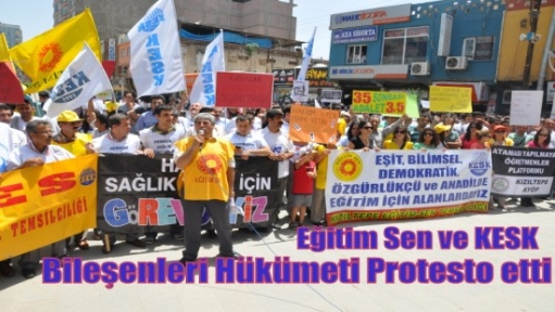 Eğitim Sen Kızıltepe Şubesi ve  KESK Bileşenleri Hükümeti Protesto etti