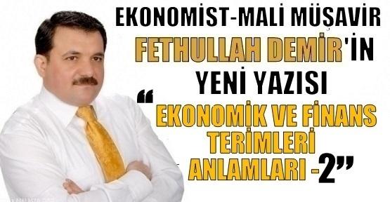 EKONOMİK VE FİNANS TERİMLERİ ANLAMLARI -2