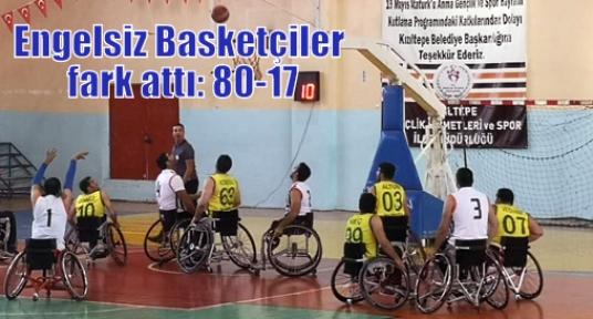 Engelsiz Basketçiler fark attı: 80-17