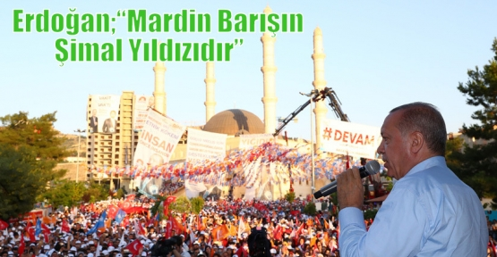 """Erdoğan;""""Mardin Barışın Şimal Yıldızıdır"""""""