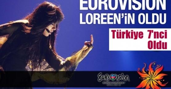 Eurovision Şarkı Yarışması'nda İsveç'i temsil eden Loreen birinci oldu.