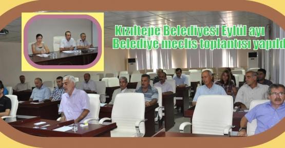 Eylül ayı belediye meclis toplantısı yapıldı