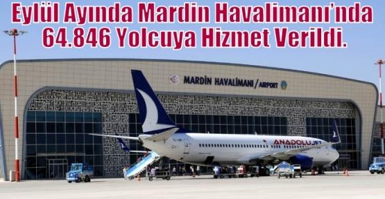 Eylül Ayında Mardin Havalimanı'nda 64.846 Yolcuya Hizmet Verildi.
